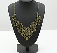 Women's Statement Necklaces Crystal Rhinestone Imitation Diamond 18K gold Austria Crystal Fashion European Costume Jewelry Jewelry For