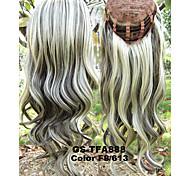 новый женский длинный афро странный синтетический парик парик 3/4 теплостойкость половина парик кудрявый парик блондинки площадка для