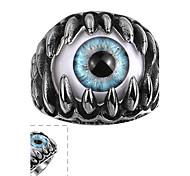 Недорогие -Майя классического индивидуальный тонкий щедрым смолы кошачий глаз нержавеющей стали Человек кольцо (черный) (1шт)