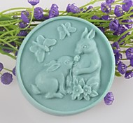 cheap -Two Rabbits Butterfly Shaped Soap Molds Mould Fondant Cake Chocolate Silicone Mold, Decoration Tools Bakeware