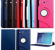 cheap -Case For Samsung Galaxy Samsung Galaxy Case with Stand Flip 360° Rotation Full Body Cases Solid Color PU Leather for Tab E 9.6