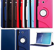 Para Funda Samsung Galaxy con Soporte / Flip / Rotación 360º Funda Cuerpo Entero Funda Un Color Cuero Sintético Samsung Tab E 9.6