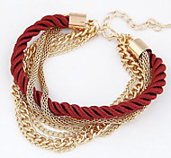 cheap -Women's Charm Bracelet - Black Dark Blue Brown Green Dark Red Bracelet For Daily Casual