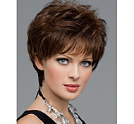cheap -Synthetic Wig Straight Natural Straight Pixie Cut With Bangs Brown Women's Capless Natural Wigs Short Synthetic Hair