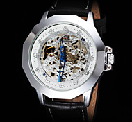 FORSINING® Men's Vintage Skeleton Auto Mechanical Leather Strap Watch Cool Watch Unique Watch