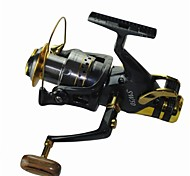 Good Quality 5.2:1  10 Ball Bearings 6000 Size Carp Fishing Reels  Spinning Fishing Reel Sea  Fishing tackle