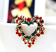 cheap -Men's / Women's Gold Plated - Fashion Red Brooch For Party / Casual