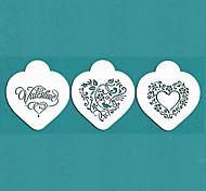 Недорогие -подарок Валентина быть мое сердце печенье трафарет установлен на торт украшения, м-670
