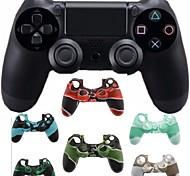 Недорогие -двойной шок беспроводной контроллер Bluetooth игры + камуфляж силиконовый чехол для PS4