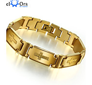 Fashion Steel Man Bracelet Charming 304L Stainless Steel with 18K Gold Plated Bracelet For Man