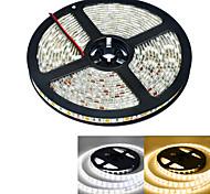 abordables -JIAWEN® 5 M 300 5050 SMD Blanco cálido / Blanco A Prueba de Agua 60 W Tiras LED Flexibles DC12 V