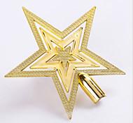 горячая новая рождественская звезда топ Рождество Золото дерево партия дерево декор цилиндр орнамент