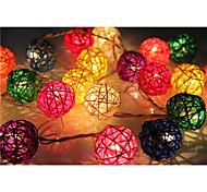 Недорогие -youoklight® 4m 20leds rgb привел свет из светлой строки ротанговой шарики для украшения (ac 110-220v)