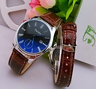 L.WEST Men's Blue Glass Roman The Belt Of Waterproof Quartz Pointer Watch Wrist Watch Cool Watch Unique Watch