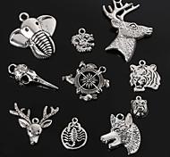 Недорогие -beadia серебра антиквариата шарма металла подвески дракон тигр волк оленя слона форма головы DIY ювелирные изделия Кулон