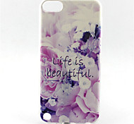 cheap -Flower Lift Is Beautiful Painting Pattern TPU Soft Case for iPod Touch 5