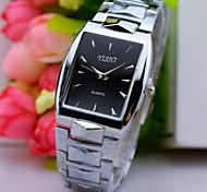 cheap -Men's Quartz Wrist Watch Casual Watch Stainless Steel Band Charm Silver