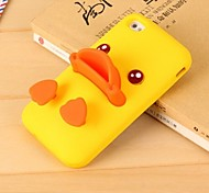 Three-dimensional Yellow Duck Style with Stand Back Cover for iPhone 6/6S (Assorted Colors)