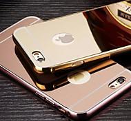 металлизированный зеркало заднего с металлическим каркасом корпуса телефона для Iphone 6 плюс / 6с плюс