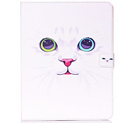 White Cat Pattern Standoff Protective Case for iPad 2/3/4