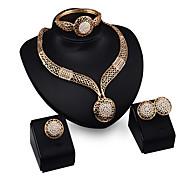 abordables -Mujer Conjunto de joyas Pulsera Pendientes Collare Anillo - Gemelo Vintage Fiesta Importante Europeo Juego de Joyas Para