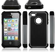 Недорогие -Кейс для Назначение iPhone 4/4S Apple Кейс на заднюю панель Твердый Силикон для iPhone 4s/4