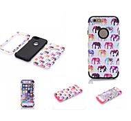 Недорогие -Кейс для Назначение Apple iPhone 6 iPhone 6 Plus Защита от влаги Защита от пыли Защита от удара Чехол Слон Мягкий Силикон для iPhone 6s