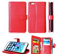 искусственная кожа + ТПУ задняя крышка бумажника много держателей карт + денежный слот + фоторамка магнитного дело телефона для Iphone 6