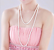 cheap -Women's Flower Pearl Imitation Pearl Pearl Necklace Y-Necklace Strands Necklace  -  Fashion White Necklace For Wedding Party Party /