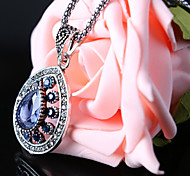 Women's Vintage Necklaces Alloy Fashion Red Green Blue Jewelry Party Casual 1pc