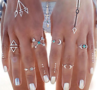 Women's Statement Rings Turquoise Fashion Personalized Costume Jewelry Turquoise Alloy Moon Anchor Jewelry For Party Daily Casual Beach