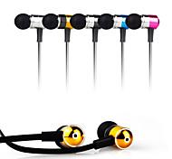 casque stéréo de haute qualité dans l'oreille écouteurs en métal casque mains libres avec micro 3.5mm écouteurs pour Samsung S4 / S5