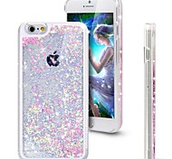 cheap -Fresh Glitter Bling Dynamic Heart Quicksand Liquid Hard Cover Clear Case for iPhone 6 Plus/6S Plus(Assorted Colors)