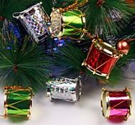 Недорогие -12pcs 2.5cm раскрашенные боковые валы рождественские валы и украшение партии