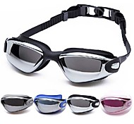 cheap -Swimming Goggles Anti-Fog Adjustable Size Waterproof Acetate Acrylic Black Silver Silver