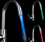 Недорогие -RGB управление цветовой температурой универсальный адаптер привело кухонная раковина кран патрубка (изменения температуры воды)