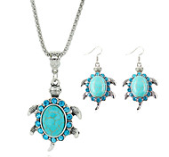 cheap -Turquoise Jewelry Set Earrings Necklace - Cute Style Blue For Party Birthday Engagement Gift Daily Casual