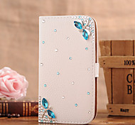 Handmade Diamond Dragonfly PU Leather Full Body Case with Kickstand for Samsung Galaxy S3/S4/S5/S5 mini/S6/S6 Edge