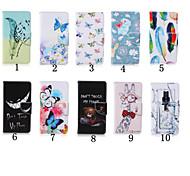 Недорогие -4-дюймовый специальный шаблон PU кожаный бумажник чехол с подставкой для Ipod Touch 5 / сенсорный 6 (разных цветов)