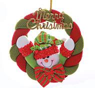 """8 """"Счастливого Рождества Санта-Клаус Венок Снеговик висит Рождество украшения деревьев"""