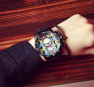 Korea Vintage Graffiti Women Watch Men Analog Quartz Wrist Dress Watch Student Watch  Lovers Watches Wrist Watch Cool Watch Unique Watch