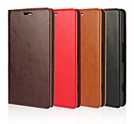 cheap -Case For Nokia Lumia 950 Other Nokia Nokia Case Card Holder Wallet with Stand Full Body Cases Solid Color Hard Genuine Leather for