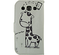 cheap -Case For Samsung Galaxy Samsung Galaxy Case Card Holder Wallet with Stand Flip Full Body Cases Animal PU Leather for S Advance Win Grand