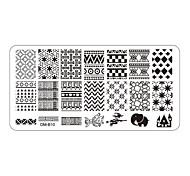 Недорогие -5 pcs Штамповка плиты / Украшения для ногтей Цветы / Мода Повседневные Дизайн ногтей / Металл