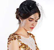 cheap -Tulle Crystal Feather Fabric Net Tiaras Flowers Hats 1 Wedding Special Occasion Party / Evening Outdoor Headpiece