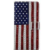 Para Capinha Huawei / P8 / P8 Lite Carteira / Porta-Cartão / Com Suporte Capinha Corpo Inteiro Capinha Bandeira Rígida Couro PU Huawei