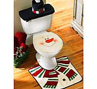 natal banheiro decoração tampa de assento do vaso sanitário de Santa boneco de neve