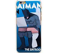 ванная комната человек рисунок прозрачный шт задняя крышка для Iphone 6 плюс