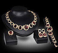 cheap -Women's Charm Bracelet Drop Earrings Statement Necklaces Statement Rings Synthetic Ruby Luxury Cute Party Link/Chain Elegant Party /
