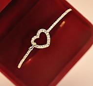 New Fashional Rhinestone Heart Bracelet Christmas Gifts